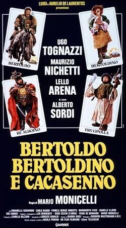 locandina di Bertoldo, Bertoldino e Cacasenno