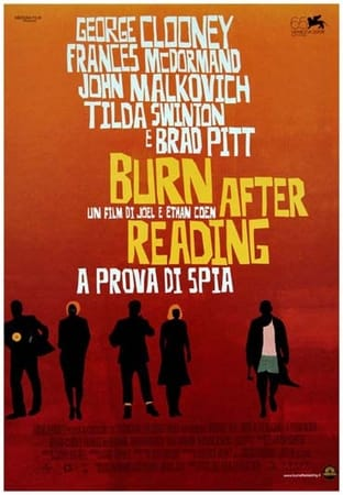 locandina di Burn After Reading. A prova di spia