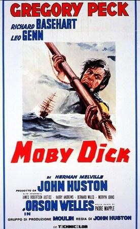 locandina di Moby Dick. La balena bianca