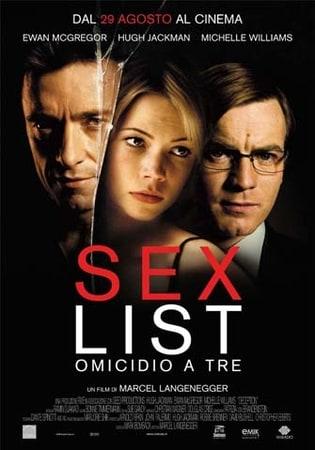 locandina di Sex List - Omicidio a tre