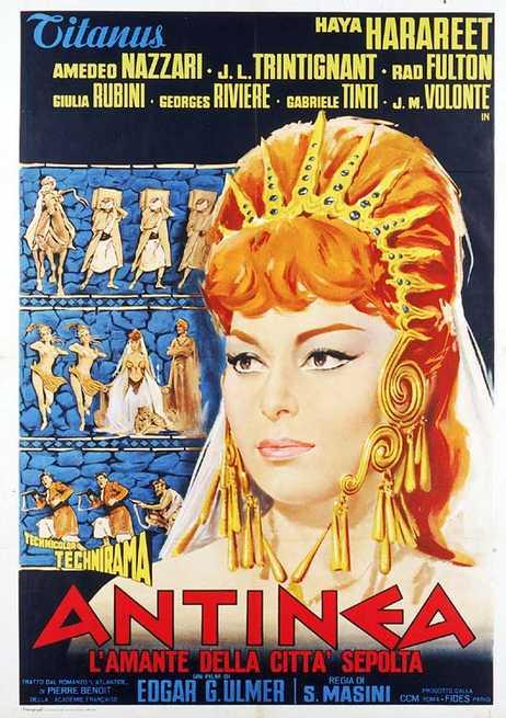 Risultati immagini per antinea, l'amante della città sepolta film 1961 locandina