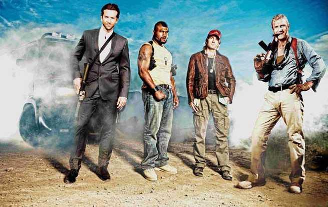 Bradley Cooper, Quinton Rampage Jackson, Sharlto Copley, Liam Neeson