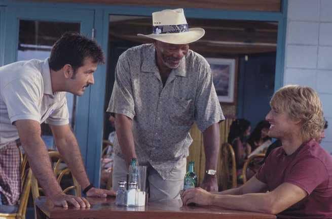 Charlie Sheen, Morgan Freeman, Owen Wilson