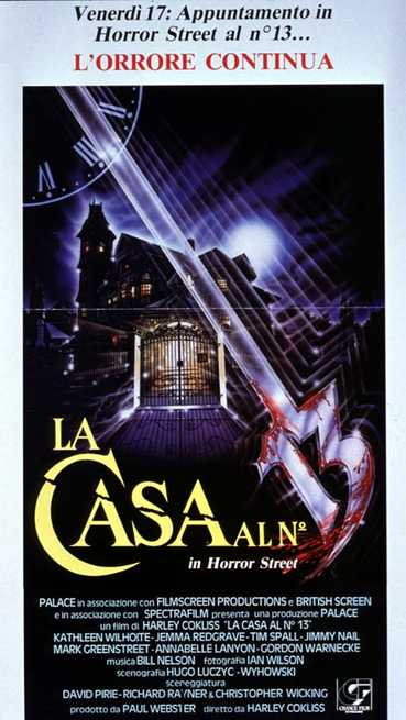 La casa al numero 13 in horror street 1988 for Chambre numero 13 film