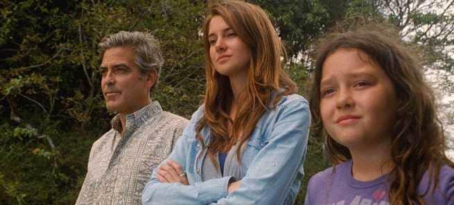 George Clooney, Shailene Woodley, Amara Miller