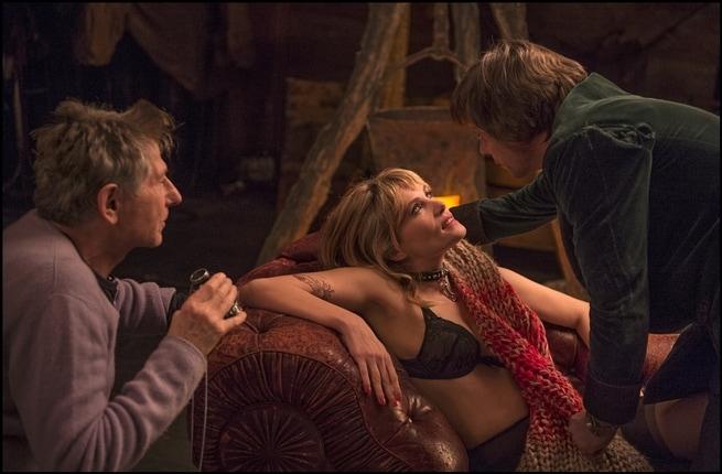 Roman Polanski, Emmanuelle Seigner, Mathieu Amalric