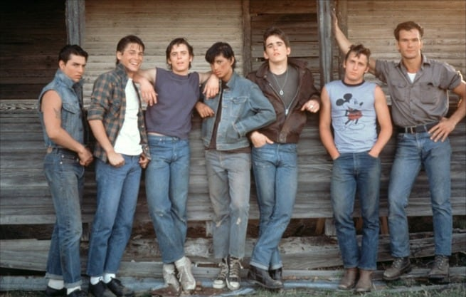 C. Thomas Howell, Matt Dillon, Patrick Swayze, Tom Cruise, Emilio Estevez, Rob Lowe, Ralph Macchio