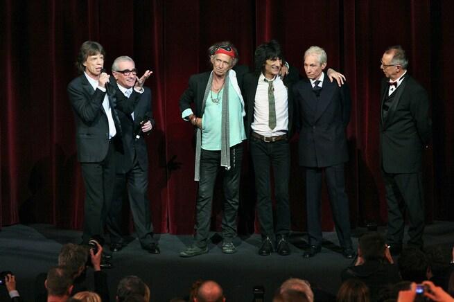 Martin Scorsese, Keith Richards, Charlie Watts, Ron Wood, Mick Jagger