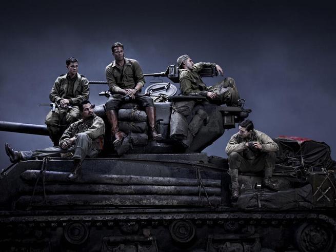 Brad Pitt, Logan Lerman, Jon Bernthal, Shia LaBeouf, Michael Peña