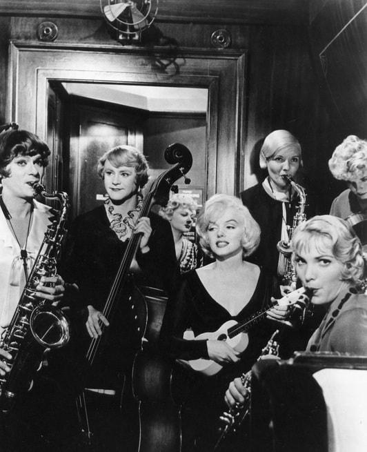 Jack Lemmon, Marilyn Monroe, Tony Curtis