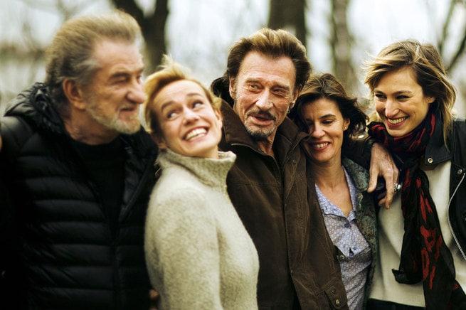Eddy Mitchell, Sandrine Bonnaire, Johnny Hallyday, Pauline Lefèvre, Irène Jacob