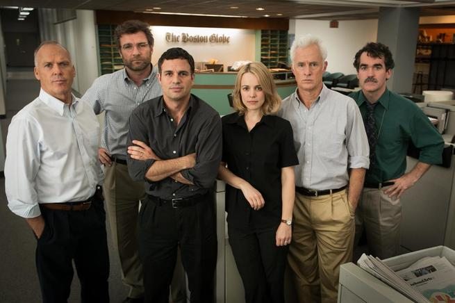 Michael Keaton, Liev Schreiber, Mark Ruffalo, Rachel McAdams, John Slattery, Brian d'Arcy James