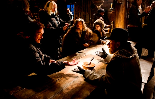 Jennifer Jason Leigh, Bruce Dern, Quentin Tarantino, Kurt Russell