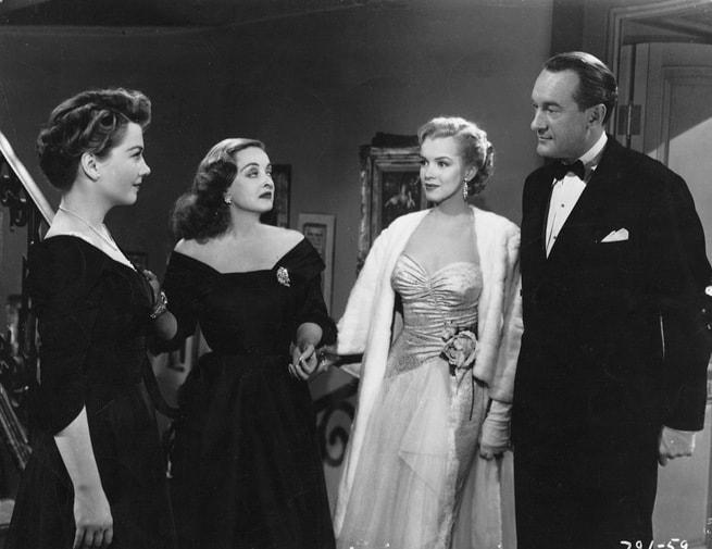 Anne Baxter, Bette Davis, Marilyn Monroe, George Sanders