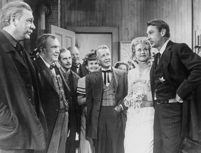 Gary Cooper, Grace Kelly, Otto Kruger, Thomas Mitchell, Lon Chaney jr.