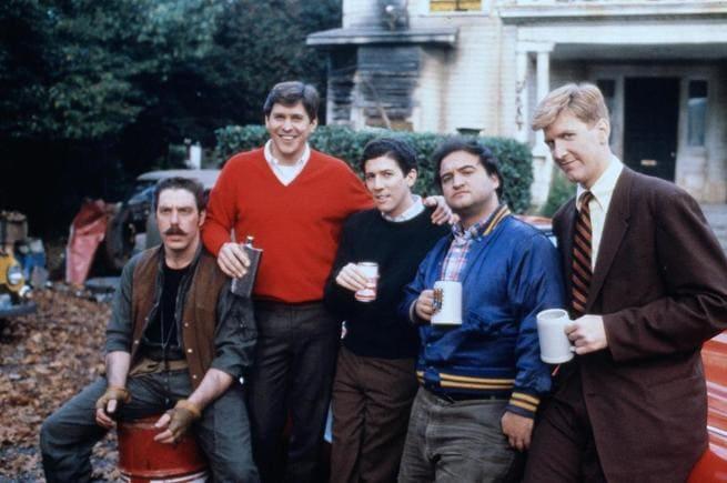 Tim Matheson, Bruce McGill, James Widdoes, John Belushi, Peter Riegert