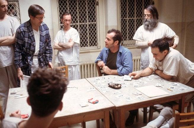 Jack Nicholson, Danny DeVito, Vincent Schiavell, Brad Dourif, William Redfield, William Duell