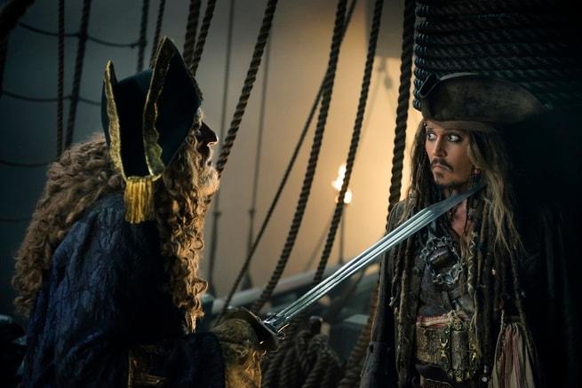 Johnny Depp, Geoffrey Rush