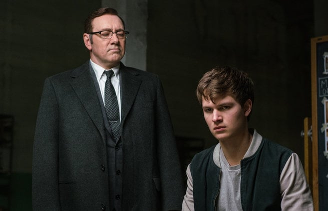 Kevin Spacey, Ansel Elgort