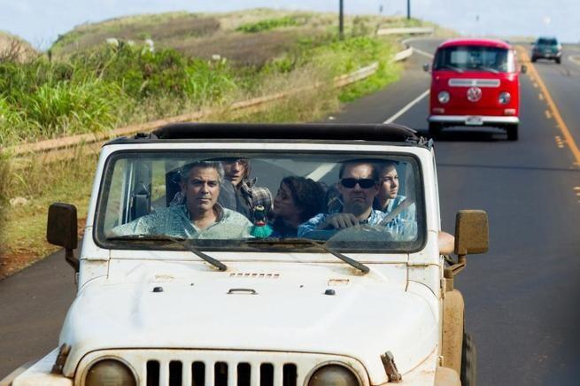George Clooney, Matt Corboy, Nick Krause, Amara Miller, Shailene Woodley