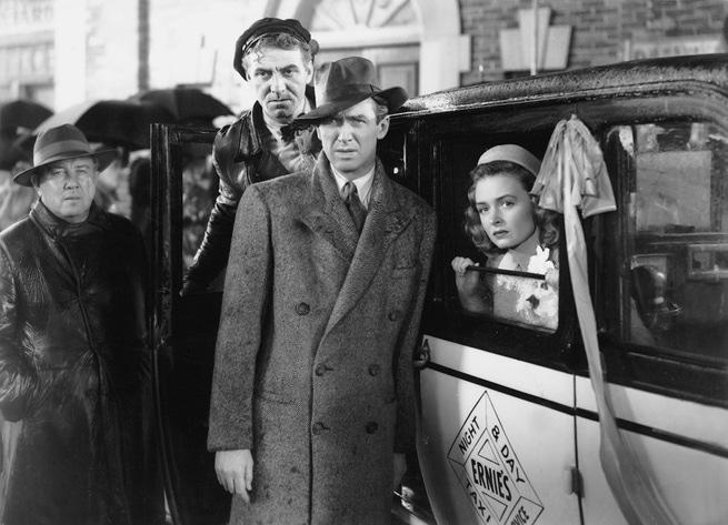 Donna Reed, James Stewart, Frank Faylen