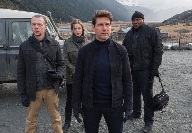 Simon Pegg, Ving Rhames, Rebecca Ferguson, Tom Cruise