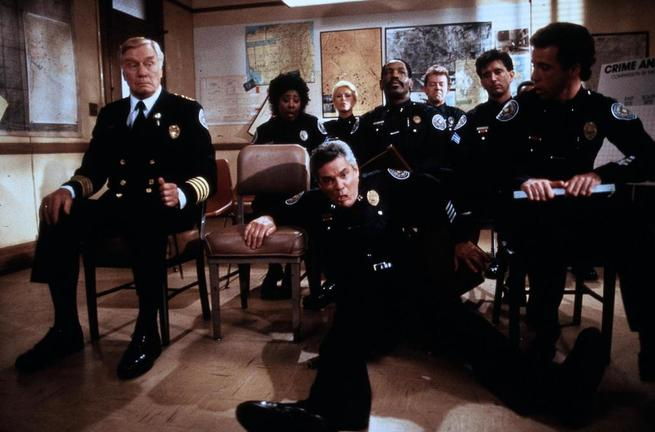 Bubba Smith, Matt McCoy, G.W. Bailey, Leslie Easterbrook, Lance Kinsey, David Graf, George Gaynes, Marion Ramsey