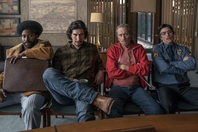 John David Washington, Adam Driver, Jasper Pääkkönen, Ryan Eggold