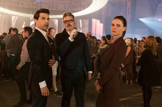 Tom Cruise, Christopher McQuarrie, Rebecca Ferguson