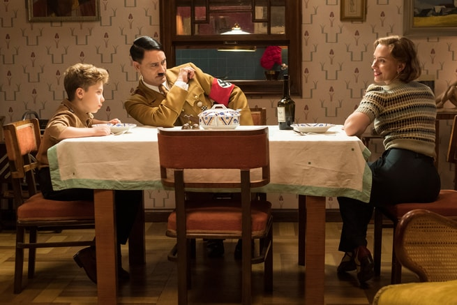 Roman Griffin Davis, Taika Waititi, Scarlett Johansson