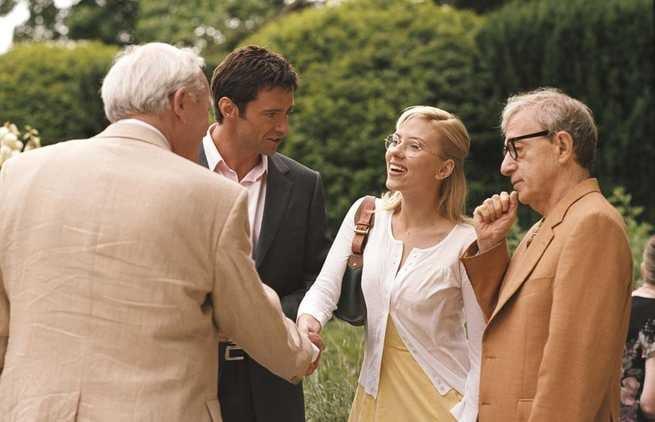 Hugh Jackman, Scarlett Johansson, Woody Allen