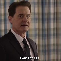 """In Serie (39) : """"<b>Twin Peaks</b>"""" [stag. 3 (p. 3/3 - II. <i>""""I <b>Am</b> the F.B.I.!""""</i>), ep. 16] – """"Morire, dormire. Forse sognare"""", ovvero: <i>""""Get me out of here!""""</i>."""