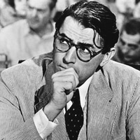 Atticus Finch e Gregory Peck