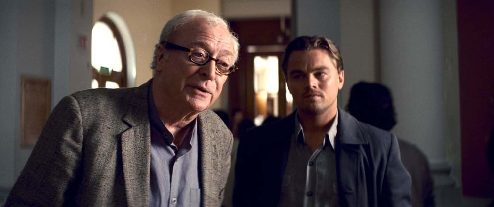 Inception: Michael Caine, Leonardo DiCaprio